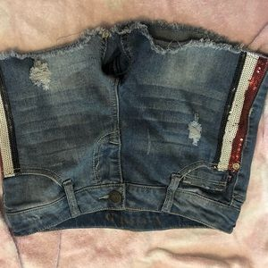 Other - Girls red,white and blue jean shorts